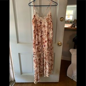 Free people butterfly asymmetrical maxi dress new